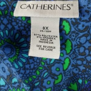 Catherines Tops - CATHERINES 3X SPRING PATTERN BUTTON SHIRT